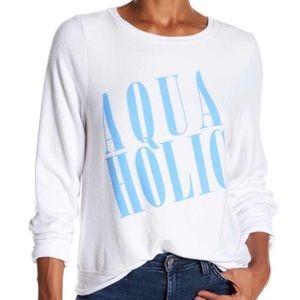 WILDFOX Aquaholic Long Sleeve Sweatshirt Medium
